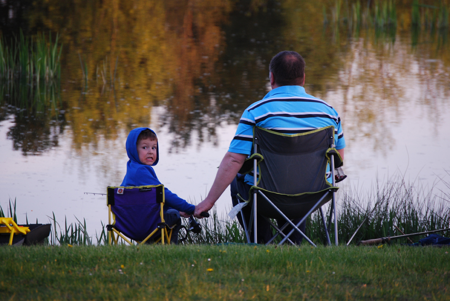 My husband and son enjoying their fishing?!