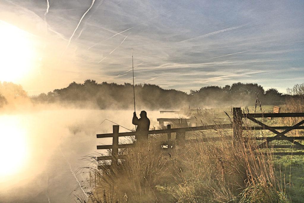 Rising Mist Reservoir Early Morning
